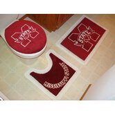 Mississippi State Bulldogs 3 Piece Bath Rugs