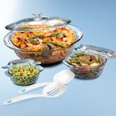 3-Piece Round Casserole Set