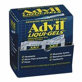 Advil Liqui-Gels, White (50 Packs Per Box)