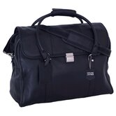 Sondrio Leather Travel Satchel in Black
