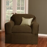 Stretch Twill Separate Seat Chair Slipcover