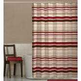 Meridian Fabric Shower Curtain in Red/Chocolate