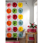 Gerber Daisy PEVA Vinyl Shower Curtain in Multi