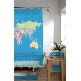 El Mundo PEVA Vinyl Shower Curtain in Blue
