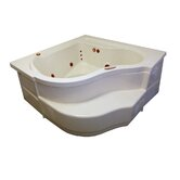 "60"" x 60"" Whirlpool and Air Massage Deep Corner Bath Tub"