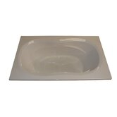 "72"" x 42"" Whirlpool and Air Massage Arm-Rest Bath Tub"