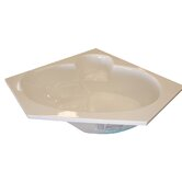 "60"" x 60"" Corner Whirlpool and Air Massage Bath Tub"