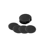 Florentine Napa Deluxe Round Coaster Set in Black
