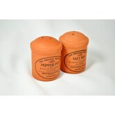 Original Suffolk Terracotta Cruet Salt and Pepper Set