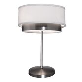 Scandia Two Light Table Lamp in Brushed Nickel