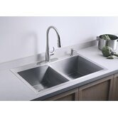 Vault Undermount Double Kitchen Sink