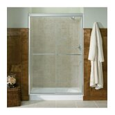 "Fluence Frameless Sliding Shower Door with Crystal Clear Glass, 44"" - 47.5"" x 76.5"""