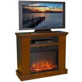 "Kenwood 38"" TV Stand with Electric Fireplace"