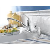 Chateau Single Handle Centerset Kitchen Faucet with Protege Side Spray
