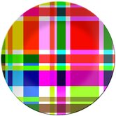 Multiplaid Round Platter