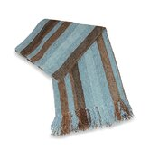 Utopia Chenille Throw in Aqua