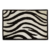 Zebra Bath Mat in Black and White