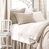 Natural Pleated Linen Bedding Collection