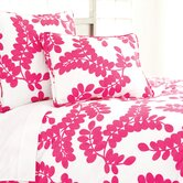 Erika Duvet Cover and Shams in Fuchsia