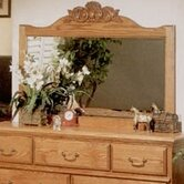Country Heirloom Crowned Top Dresser Mirror
