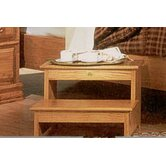 Country Heirloom Foot Step Stool in Light Wood