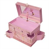 "Ballet School Ballerina 7.75"" High Music Treasure Box"