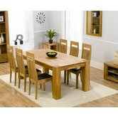 Madrid Chunky Solid Oak Dining Table with Monte Carlo Chairs