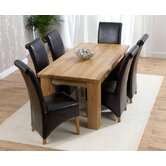 Barcelona Solid Oak Dining Table with Chairs