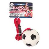 "2.75"" Rough and Rugged Soccer Tug Dog Toy"