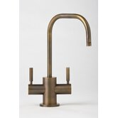 Fulton Two Handle Single Hole Hot and Cold Water Dispenser Faucet with Lever Handle