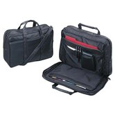 Leather Business Case With Handle, Black