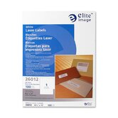 "Mailing Label, Laser, White, 8-1/2""x11"", 100 per Pack"