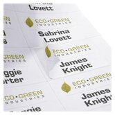 Recycled Name Badge Labels, White