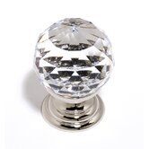 Swarovski Crystal 1.18&quot; Crystal Spherical Knob