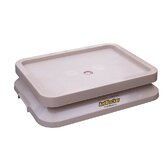 Ant Proof Pet Food Tray in Sandstone