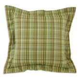 Upstream Plaid Algae Flanged Fiber Pillow