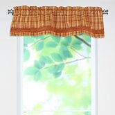 Upstream Plaid Linen Rod Pocket Valance with Bottom Band