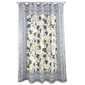 Small Talk Spots Mitered Shower Curtain