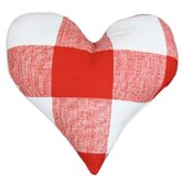 Anderson Lipstick Heart Shaped Cotton Pillow