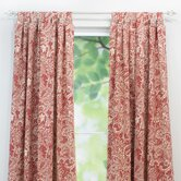 Mardi Gras Cotton Tab Top Curtain Panel