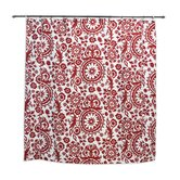 Suzani Lipstick Cotton Standard Cut Corded Shower Curtain