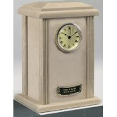 Clock Tower Deluxe Natural Marble Large / Adult Urn in Cream