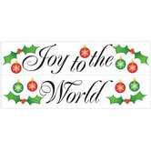 Seasonal Joy to the World Peel and Stick Wall Decal