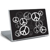 Laptop Wear Peace Signs Peel and Stick Laptop Wear