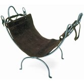 Leaf End Wrought Iron Log Carrier and Stand