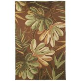 Outdoor Poly-Loop Tropical Palm Chocolate Rug