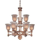 Country Ranch 9 Light Chandelier