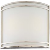 Concave Wall Sconce with Brushed Nickel Frame - Energy Star
