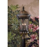 Kent Place Four Light Outdoor Post Lantern in Prussian Gold