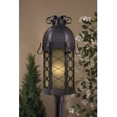Montalbo One Light Outdoor Post Lantern in Black